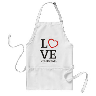 Big LOVE Volleyball Adult Apron