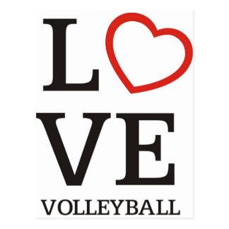 Big LOVE Volleyball Postcard
