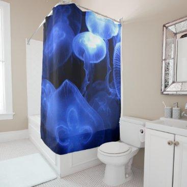 Beach Themed Big Luminous Jellyfish Shower Curtain