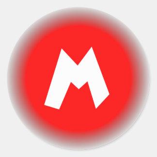 Big M Classic Round Sticker