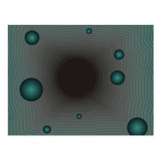 Big Machine wormhole science fiction black hole Postcard