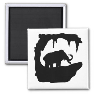 Big Mammoth in his cave Refrigerator Magnets