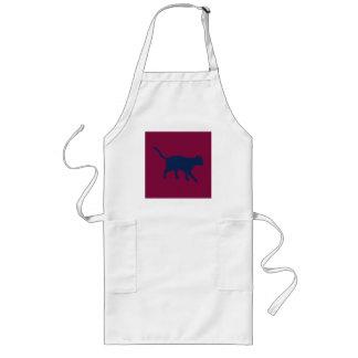 big maroon cat long apron