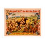 Big Minstrel Jubilee Charge of San Juan Hill Postcard