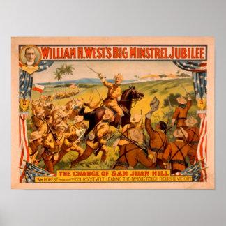Big Minstrel Jubilee Charge of San Juan Hill Poster