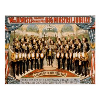 Big minstrel Jubilee Postcard