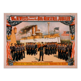 Big Minstrel Jubilee Remember the Maine Poster