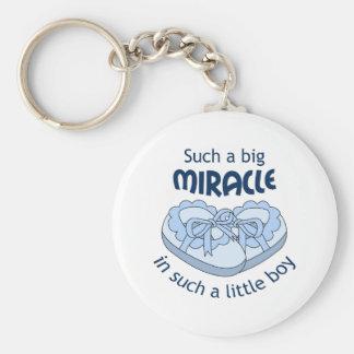 Big Miracle Basic Round Button Keychain