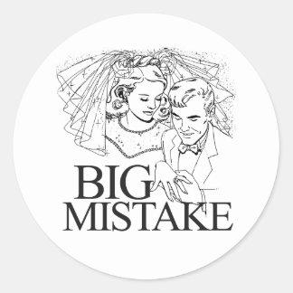 Big Mistake Classic Round Sticker
