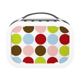 Big Mod Dots 1950s Retro Colors Lunchbox