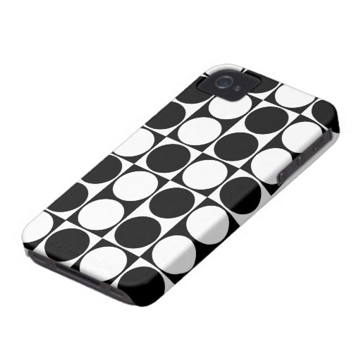 Big Mod Dots Black & White Case-Mate ID™ iPhone 4 iPhone 4 Covers