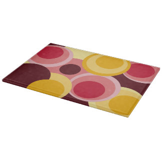 Big modern colorful circles1 cutting boards