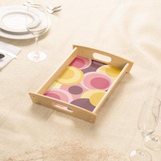 Big modern colorful circles1 serving tray