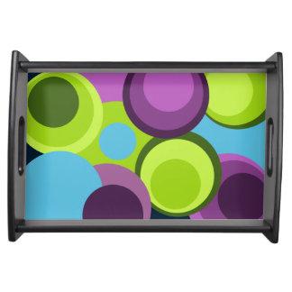Big modern colorful circles serving tray