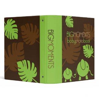 Big Moments Baby Photo Book Binder - Elephants binder