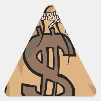 Big Money Bag Triangle Sticker