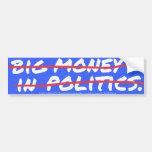 Big Money In (out) Sticker Car Bumper Sticker