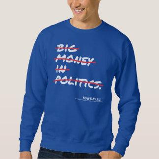 Big Money In Politics Strikethrough Sweatshirt-dk Sweatshirt