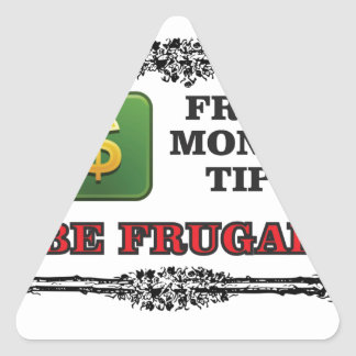 big money tip triangle sticker