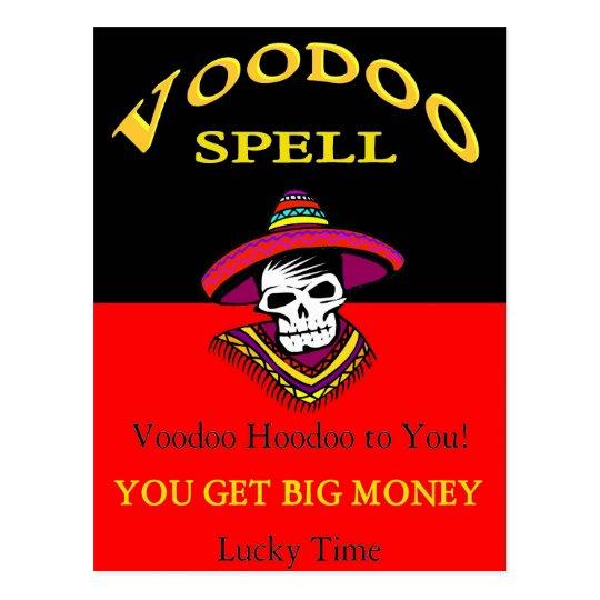 Big Money Voodoo Spell Postcard