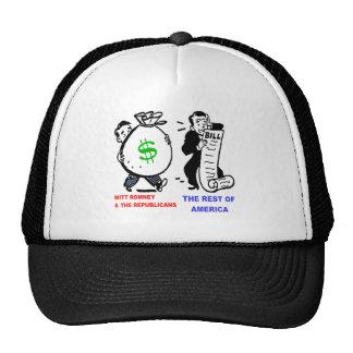 Big Moneybags Mitt Romney versus average Americans Trucker Hat