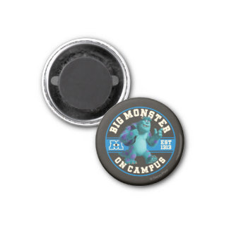 Big Monster on Campus 1 Inch Round Magnet