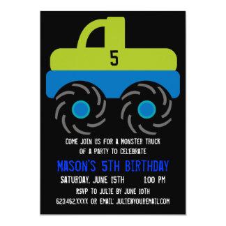 Big Monster Truck Birthday Party Invitations