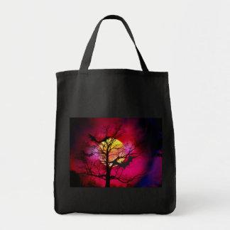 Big Moon and Dead Tree Halloween Bags