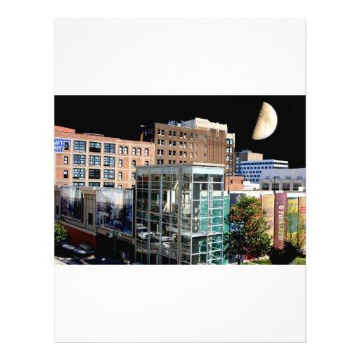 Big Moon Hanging over Kansas City Custom Letterhead