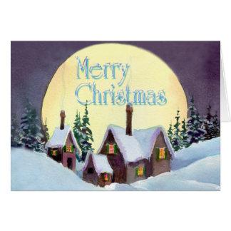 BIG MOON MERRY CHRISTMAS by SHARON SHARPE Card