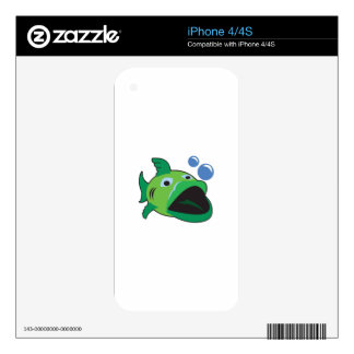 BIG MOUH BASS DECALS FOR THE iPhone 4S