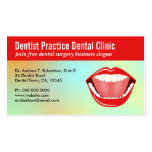 Big Mouth Aqua Dental Appointment Business Cards Business Card Template
