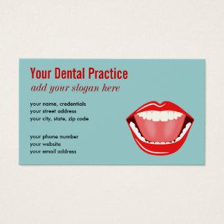 Big Mouth Blue Professional Dental Business Cards