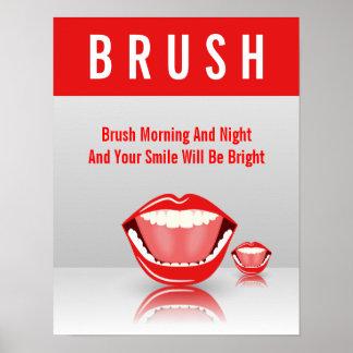 Big Mouth BRUSH Dental Dentist Poster Poster