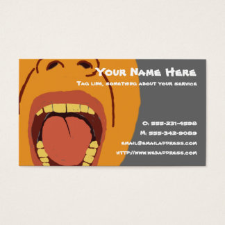 Big Mouth business card