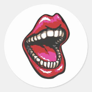 Big Mouth Classic Round Sticker