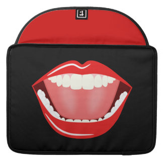 Big Mouth Cute Funny 15 Inch Macbook Pro Sleeves