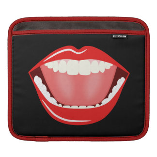 Big Mouth Cute Funny Cool iPad Sleeves