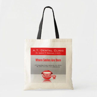 Big Mouth Dental Dentist Promotional Tote Bags