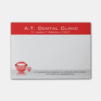 Big Mouth Dental Dentist Small Post-it® Notes