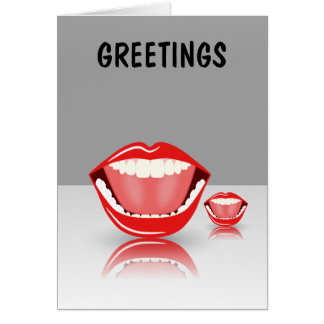 Big Mouth Dental Greeting Cards Cards