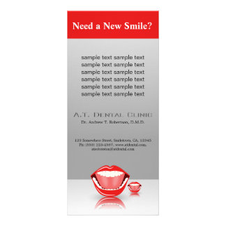 Big Mouth Dentist Dentistry Dental Rack Cards Customized Rack Card