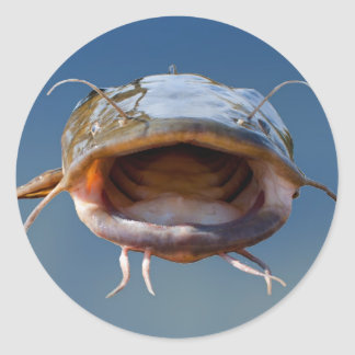 Big Mouth Fishing Classic Round Sticker