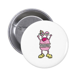 big mouth funny monster pinback button