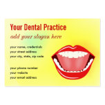 Big Mouth Gold Professional Dental Business Cards Business Card Templates