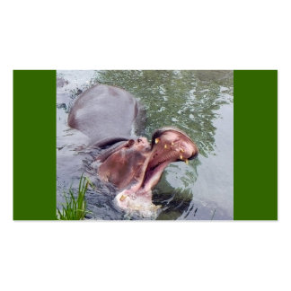 Big Mouth Hippo Double-Sided Standard Business Cards (Pack Of 100)