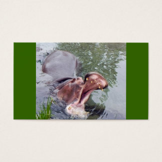 Big Mouth Hippo Business Card