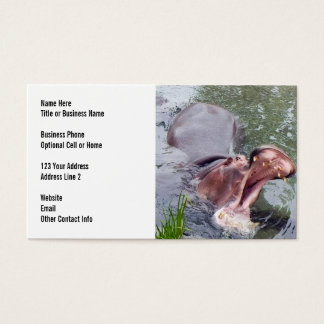 Big Mouth Hippo | Zoo Animals Business Card