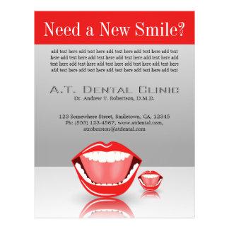 Big Mouth Large Dentist Dentistry Dental Flyers