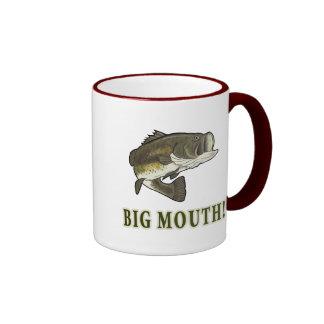 Big Mouth: Largemouth Bass Ringer Coffee Mug